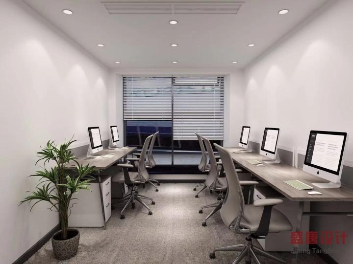 黑白灰性冷淡风办公室案例效果图