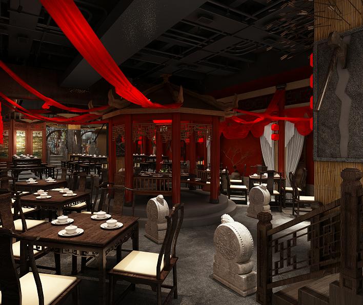 杭州文一西路铂澜大象城 560平 中式餐厅装修案例